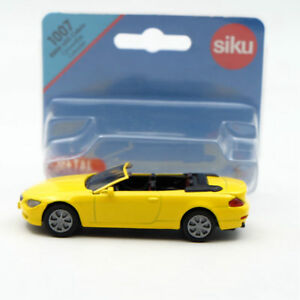 Siku-1007-BMW-645i-Cabrio-Convertible-Cabriolet-Toy-Car-Diecast-Yellow