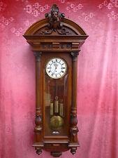 schöne,alte Pendeluhr__Wiener Regulator__mit Pendel und 3 Gewichten__132cm
