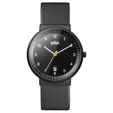 NEW RRP £140 Braun BN0032BKBKMHG Mens All Black Watch