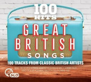 100 HITS: GREAT BRITISH SONGS (REEF, PAUL YOUNG, FAITHLESS, LULU, ...) 5 CD NEW+