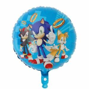 "Videojuego de Sonic 18/"" Orb Helio Feliz Cumpleaños Fiesta Globo Sonic Película X 1"