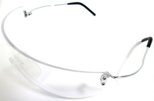Optramax Safety Glasses Eyewear PPE Frameless Clear Lenses Eye Protection EN166