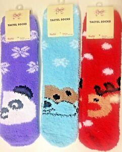 3-Pack-Femmes-Filles-Confortable-Antiderapant-Salon-pantoufle-Gripper-Cadeau-De-Noel-Chaussettes-4-6