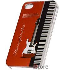 Cover Custodia Rigida Per iPhone 4 4S Chitarra Elettrica + Pellicola Display