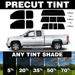 Chevy Silverado GMC Sierra Standard Cab 99-06 PreCut Window Tint Black 20/%