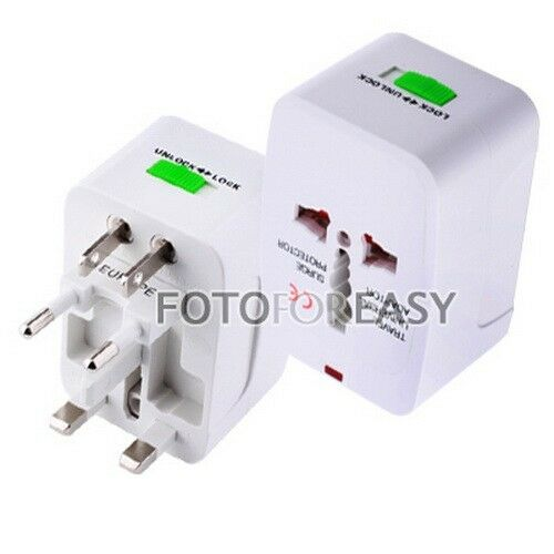 US EU AU UK To Universal All-In-One World Travel AC Power Plug Adapter Convertor
