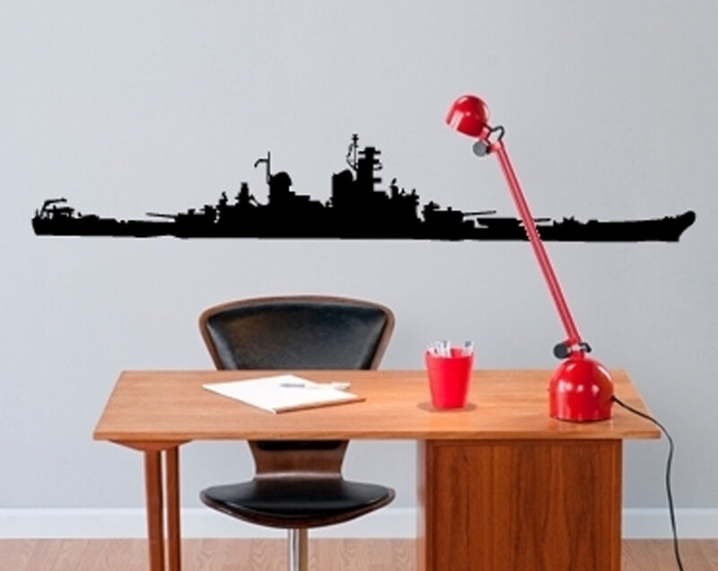 USS NEW JERSEY BATTLESHIP BB-62 WW2 WALL DECOR DECAL