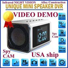 TOP Secret Spy Camera Mini Clock Radio Hidden/Covert DVR-Audio/video/