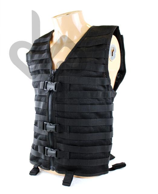 US Military Gear Adjustable Tactical Modular MOLLE Combat Vest (Black) [BI2]