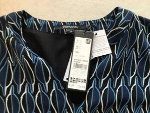 NP129€, Tolles Comma Kleid Gr. 44 Damen Blau Neu Sommerkleid Weit WOW