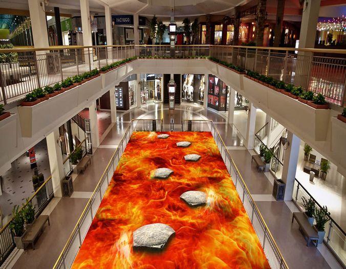 3D Flamme 1 Fond d'écran étage Peint en Autocollant Murale Plafond Plafond Murale Chambre Art 59fed4