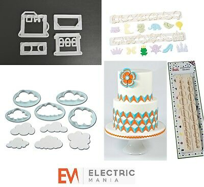 Kitchen, Dining & Bar Other Baking Accessories Fmm Cutters Children's Cake Baking Kit 2 Icing Fondant Cutting Sugarcraft Tools