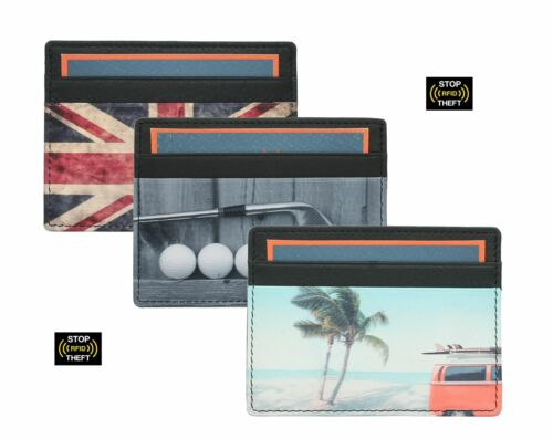 Kalmin imprimé cuir carte de crédit titulaire avec RFID Protection 637 /_ 4