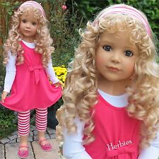 "Masterpiece Dolls Laura by Monika Peter-Leicht, 39"" Blonde Blue Eyes Full Vinyl"