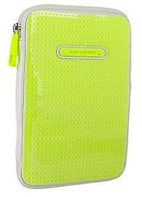JUICY COUTURE Sunshine Shimmer Sequin E-Reader Mini iPad Case Ultra Yellow