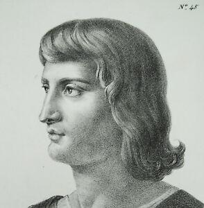 Diligent Antique Print Charles Iv Le Bel Roi De France Navarre Dernier Capétiens Directs