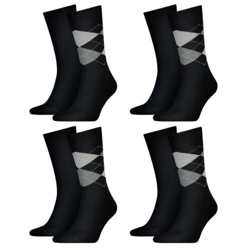 8 Paar TOMMY HILFIGER CHECK Socken Gr 39-46 Herren Business Sneaker Socken