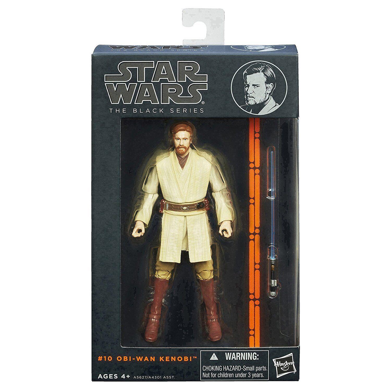 Guerra DE LAS GALAXIAS la serie negra Obi-Wan Kenobi Figura 6 pulgadas 1st versión Embalaje