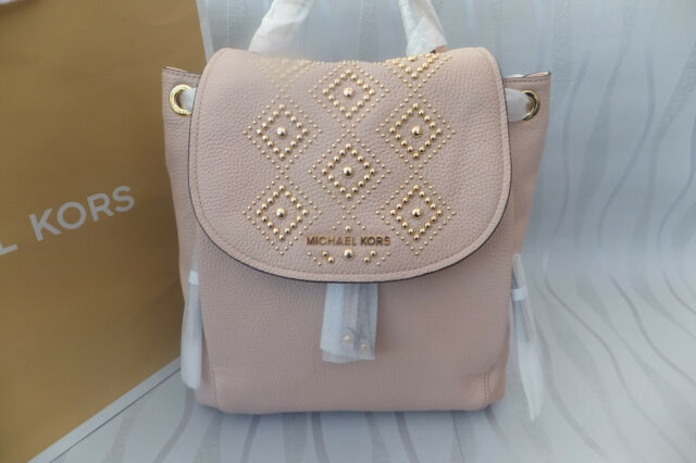 bf31ca9990e0 Michael Kors Genuine Riley Large Studded Leather Backpack Ballet for ...