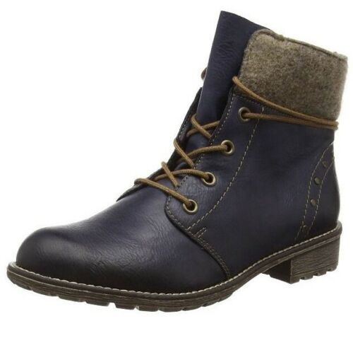 Rieker Blue Boots Ankle 4 Kinder K3467 ozean 37 Uk wood 14 Girls' Eu Child 6Xwq6Ifr