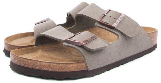593db8fad8c Mens Birkenstock Arizona Stone Flat Twin Strap Footbed Sandals Shoes ...