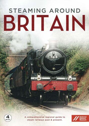 1 of 1 - Steaming Around Britain Complete (New 4 DVD set) Steam Engines Railways Trains