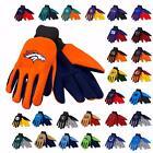 NFL Football Team Logo Work Utility Non Slip Gloves One Size - Pick Team