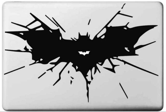 Black Batman bat vinyl sticker for Mac Book/Air/Retina laptop decal