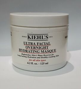 Kiehls Ultra Facial Overnight Hydrating Masque  125ml/4.2oz Florena Intensive Moisturizing Soft Cream with Aloe Vera 200ml 6.76oz