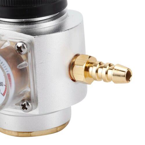 CO2 Mini Gas Regler Druckminderer Druckregler Sodastream mit Manometer 0-90 PSI