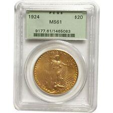 1924 $20 MS-61 PCGS Gold Double Eagle Saint Gaudens Coin