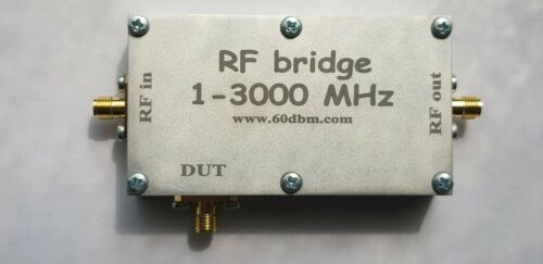 RF bridge 1-3000 MHz, VNA  Return Loss  SWR  reflection bridge antenna, cased
