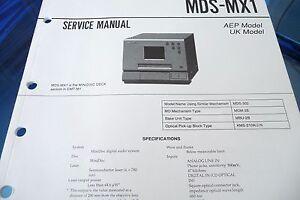 Service Manual-anleitung Für Sony Mds-mx1 Anleitungen & Schaltbilder original!