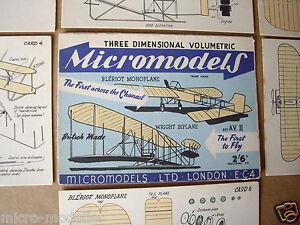 1952-Vintage-Micromodels-Set-AVII-AV2-034-The-First-to-Fly-034-Wright-amp-Bleriot-2-6d