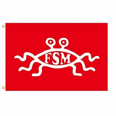 "Candid Small Flying Spaghetti Monster Flag 18"" X 12"" Flags"