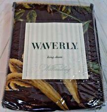 Waverly Somerset Botanical Chocolate King Shams Williamsburg Design Set of 2