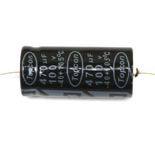 5pc Electrolytic Capacitor 470uF 100V 105℃ φ16x35mm Axial Topcon Taiwan
