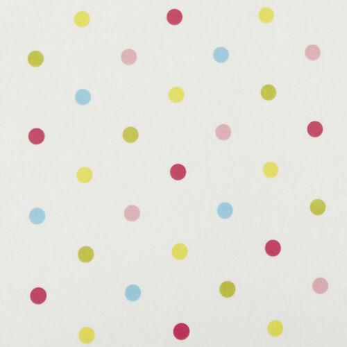 Sunshine multi Dot Pois PVC vinyle wipeclean toile cirée nappe