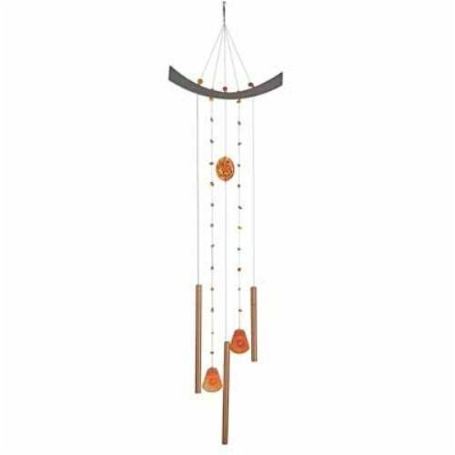 Woodstock Feng Shui Chi Energy Wind Chime Chimes AMBER model #CEM