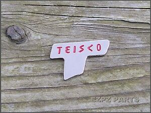 """PréCis Teisco """"t"""" Emblème Teisco Logo Pour Guitare, Basse & Lap Steel Ezpz Guitar Parts-afficher Le Titre D'origine MatéRiaux De Haute Qualité"""
