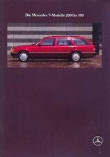 Mercedes-Benz W124 Estate sales brochure Oct 1989 German market