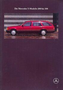 Details about Mercedes-Benz W124 Estate sales brochure Oct 1989 German  market