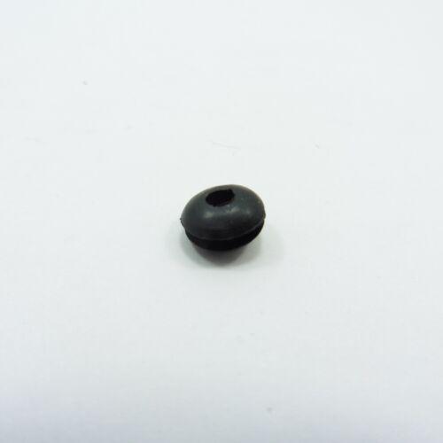 Ojal de caucho agujero de doble cara 3mm Cable de cableado junta abierta Cable De Anillo Negro