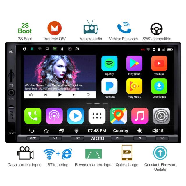 ATOTO A6 2DIN GPS per auto Android / Carica rapida  / A6Y2721PB / Due Bluetoot