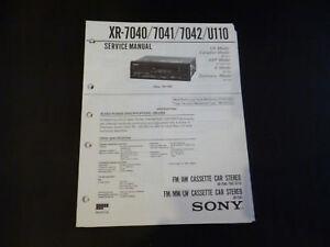 Tv, Video & Audio Original Service Manual Sony Xr-7040/7041/704/u110 Angemessener Preis