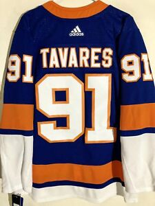 purchase cheap e85a1 263f7 Details about adidas Authentic NHL ADIZERO Jersey New York Islanders John  Tavares Blue sz 54