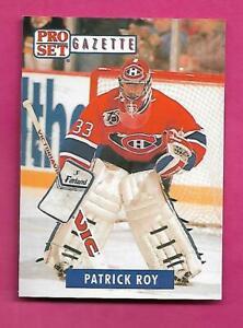 RARE-1992-93-PRO-SET-GAZETTE-2-PATRICK-ROY-NRMT-MT-CARD-INV-C4228