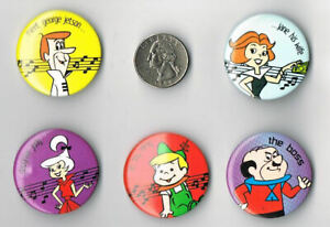 THE-JETSONS-PROMO-5-PIN-SET-Button-Badge-1983