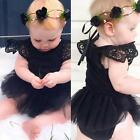 Lovely Kids Baby Girl Romper Jumpsuit Bodysuit Tutu Dress Clothes Outfit 0-24 M