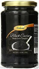 12 OZ 340g BLACK LUMPFISH CAVIAR Whole Grain Roe, Free Expedited shipping $ave√